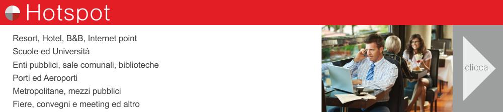 Progetto sito SOLUZIONI PERSONALIZZATE hotspot